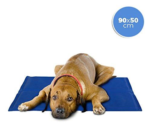 MEDIA WAVE store 37103 Cojín refrigerante 90x50 cm para Perros Grandes con Gel refrescante
