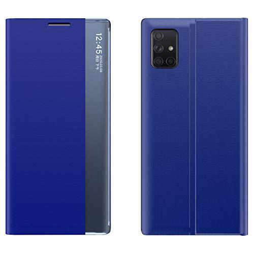 kinnter Handyhüllen Kompatibel Mit Samsung Galaxy A71 Hülle Dünn Flip Cover View Case Mit Standfunktion Für Samsung Galaxy A71 360 Grad Schutzhülle