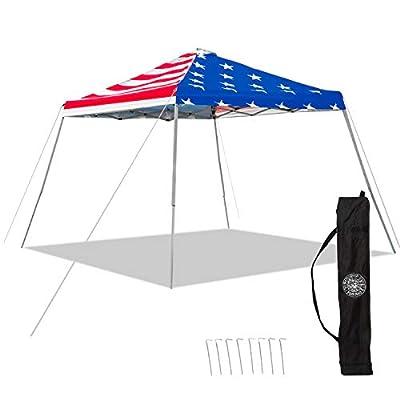 American Flag Pop Up Canopy Tent - UV Coated, Waterproof Instant Outdoor Gazebo Tent