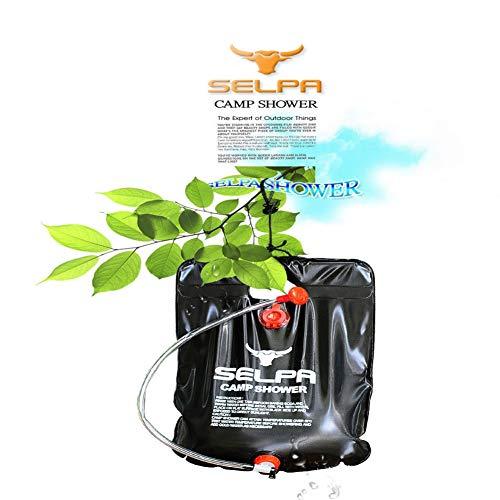 Blanchel Bolsa de Ducha de energía Solar climatizada 20L Plegable PVC Intercambiable...