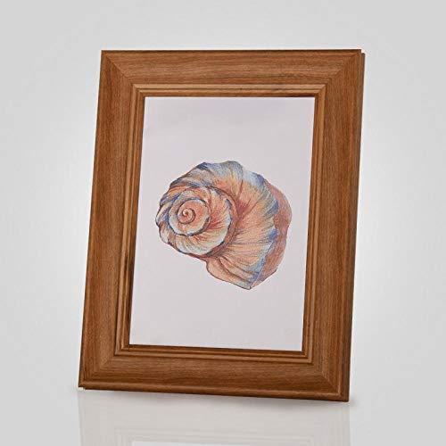 Xqsb Fotolijst, moderne driedimensionale tafel of wandbehang 20,3 × 25,3 cm Gele houtnerf.