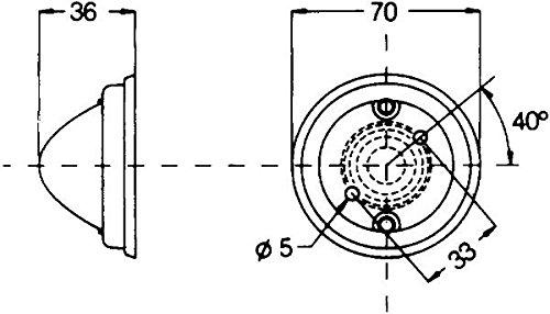 HELLA 2PF 997 023-011 Positionsleuchte - C5W - Anbau - Einbauort: links