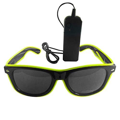 ZARLLE-Gafas Gafas Luminosas Aviador Sol Luminosas LED, Gafas de Sol Brillantes, Gafas de Sol con luz LED para Halloween, Navidad, Fiesta de cumpleaños, Regalo, para niños y Adultos