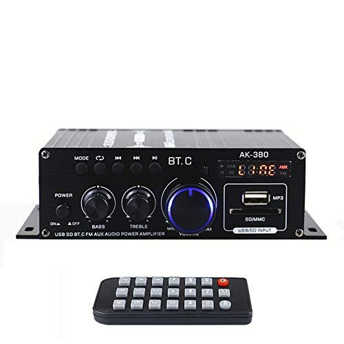 AK380 Mini amplificador de potencia de audio Amplificador de sonido portátil Amplificador de altavoz para automóvil y hogar