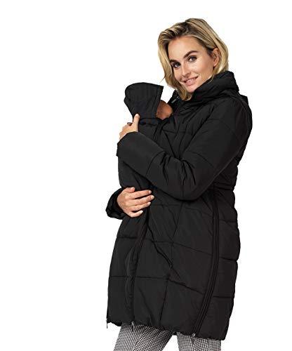 Noppies Damen Umstands Jacke Jacket Winterjacke (38 (Herstellergröße: M), schwarz (Black))