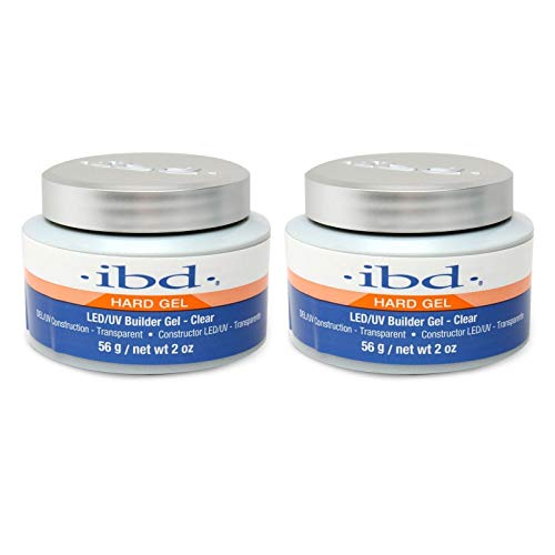 ibd Hard Gel LED/UV Builder Gel Clear 56 g / 2oz, 2 pcs