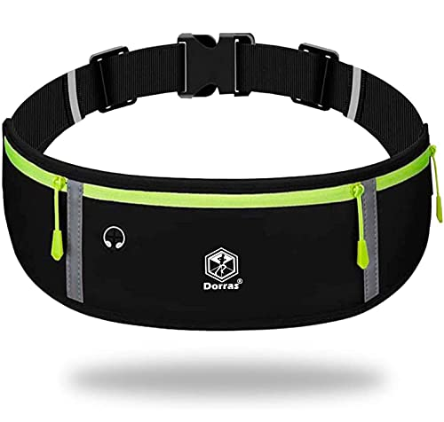 Running Belt Waist Pack Bag - Water Resistant Fanny Pack Runners Belt for Workout Hiking Fitness – Adjustable Running Pouch for Phones iPhone Android