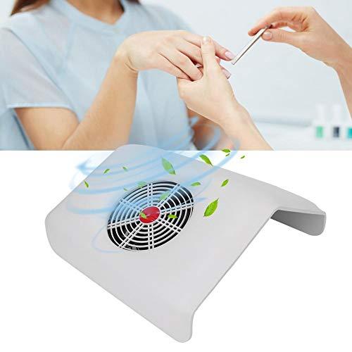 Nagelstofafscheider, Nagelstofzuiger, 45W Nagelstofafscheider Sterke zuigkracht Nail Art Stofzuiger Manicure Tool Wit(EU)