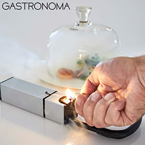 Gastronoma 16310205 Mini Smoker, Smokin-Gun,Räucher-Gerät, Räucher-Pistole,Edelstahl Design, Batteriebetrieb