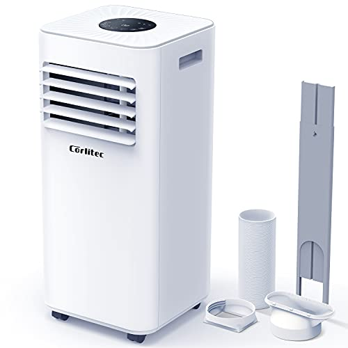Corlitec Climatizzatore mobile, 9000 BTU, condizionatore portatile 3 in 1, deumidificatore, ventola di raffreddamento, con display digitale e telecomando, per ambienti fino a circa 20 m²