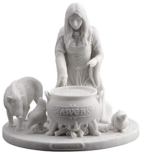 Veronese Design Ceridwen - Celtic Goddess of Knowledge with Cauldron Statue