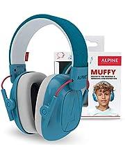 Alpine Muffy Protectores de Oído para Niños, Cascos Antiruido para Niños de 3 a 16 años, Cascos de Insonorización diseñados para niños, Cómoda protección auditiva con banda de sujeción ajustable