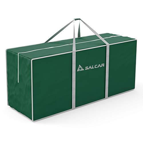 SALCAR Cajas Almacenaje Ropa, Contenedor de Almacenamiento Debajo de la Cama, 130 x 40 x 50 cm. Bolsa de Almacenamiento de Viaje, usada para Edredones Fundas Almohadas Juguetes Chaquetas Ropa - Verde