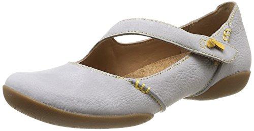 Clarks Damen Felicia Plum Geschlossene Ballerinas, Grau (Stone Nubuck), 37 EU