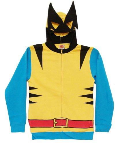 Marvel Wolverine Costume Hoody Sweatshirt, Yellow, Large - http://coolthings.us