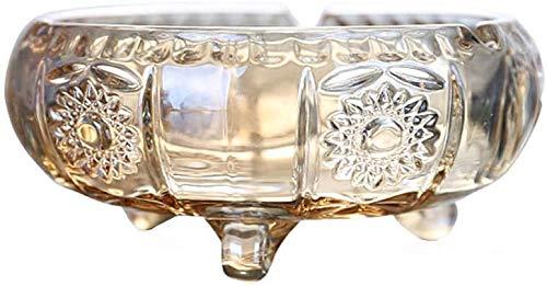 WXD Inicio Cenicero de Cristal Dorado de Estilo Europeo Mesa de Centro Cenicero de Oro Hogar Creativo Utilizado para cenicero de pasajeros