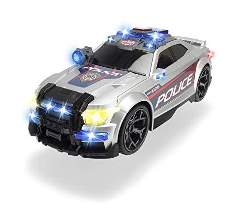 Dickie Toys 203308376 Toys Street Force, Polizeiauto, Sondereinsatz Polizeiwagen, motorisiertes Spielzeugauto, Kofferraum zum Öffnen, mit Licht & Sound, inkl. Batterien, 33 cm, ab 3 Jahren