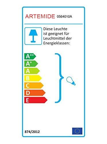 Artemide Tolomeo Mega wandlamp On-Off 42, lampenkap pergament