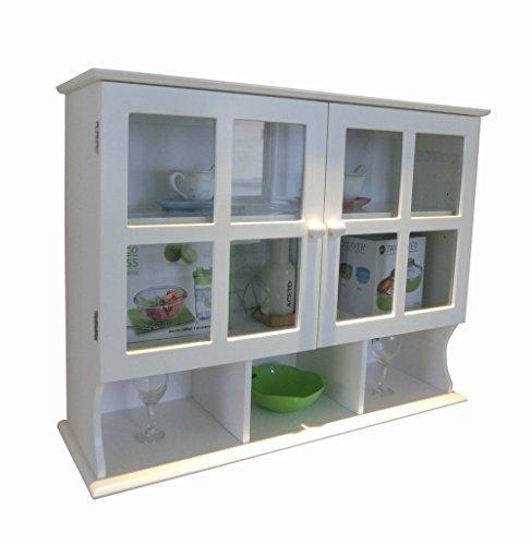 Homecharm-Intl 80x24.3x61CM Badezimmer Hängeschränke/Medizin Schrank, weiß,HC-032