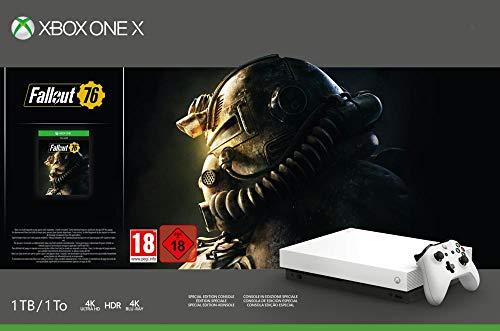 Microsoft Xbox One X 1TB, weiß - Fallout 76 Bundle Special Edition Weiß