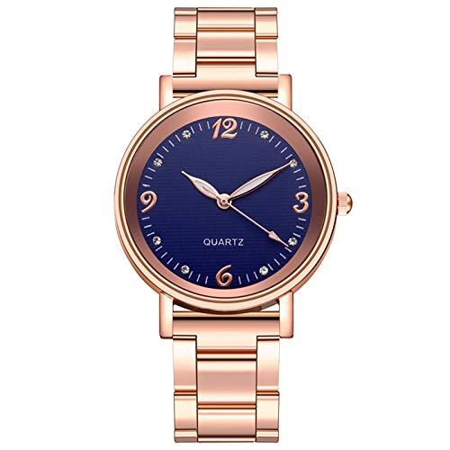 Relojes Para Mujer Mira las mujeres Casual Net Señoras Reloj de pulsera con estrellas Decoración Moda Relojes de cinturón salvaje Relojes Decorativos Casuales Para Niñas Damas ( Color : Dark Blue )