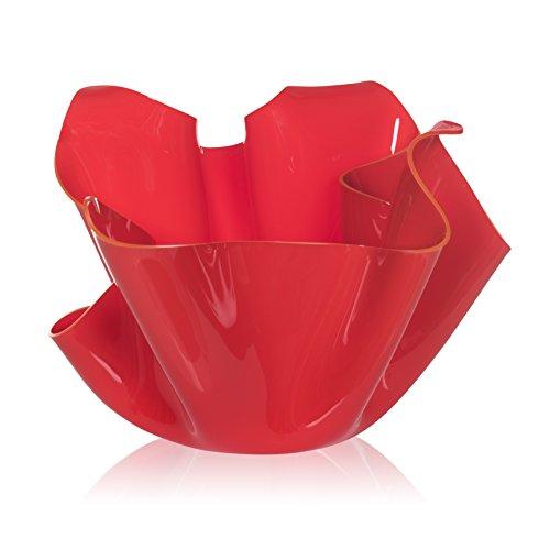 Iplex Design Décoration d'auteur Pot Multi-Usage, Acrylique, Rouge, 45 x 45 x 29 cm