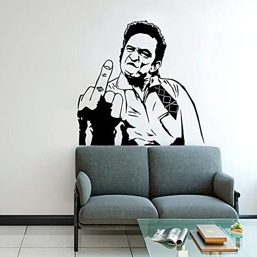 JXMN Pegatinas de Pared de decoración Familiar despectiva de Dibujos Animados para habitación de niños decoración extraíble calcomanías de Pared 56x56 cm