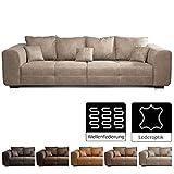 Cavadore Big Sofa Mavericco / XXL Love Seat im modernen Design  in Lederoptik / Inklusive...
