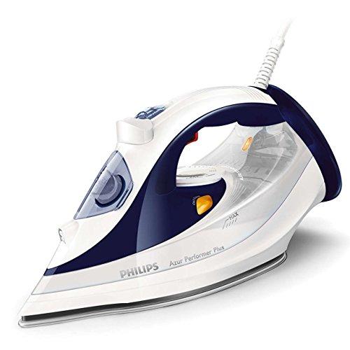 Philips GC4506/20 Azur Performer Plus ferro da stiro a vapore, 2400 W, Bianco/Blu