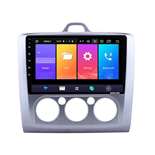 ADMLZQQ 9 Pulgadas Android 10.0 Radio Coche Estéreo para Automóvil para Ford Focus 2006-2014, FM/RDS/GPS/Bluetooth/Controles del Volante/Cámara De Visión Trasera,Mode 2,8core 4G+WiFi: 4+64G