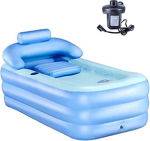 Y-NOT Vasca da Bagno Gonfiabile per Adulti Piscina per Bambini Massaggio Spa Vasche Jacuzzi Pieghevole Giardino (con Pompa ad Aria Elettrica)