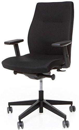 Grammer Drehstuhl SoOne F160 mit Armlehnen + Vollausstattung Bürostuhl Schwarz Arbeitsdrehstuhl