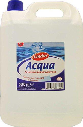 4 x LINDOR gedemineraliseerd water 5 liter 5000 ml