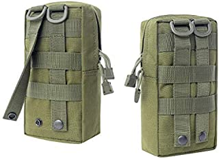 2 Pack Multi-Purpose Water-Resistant MOLLE Pouches, Tactical Backpack Accessory Bag