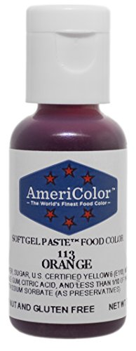 Americolor Soft Gel Paste Food Coloring, Orange, .75 oz