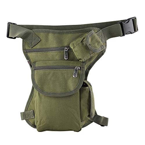 Taille Jambe Sac Militaire Racing Drop Bag Sac Utilitaire Cuisse Sac Taille Pack pour Randonnée Chasse Airsoft Escalade(Vert armée)
