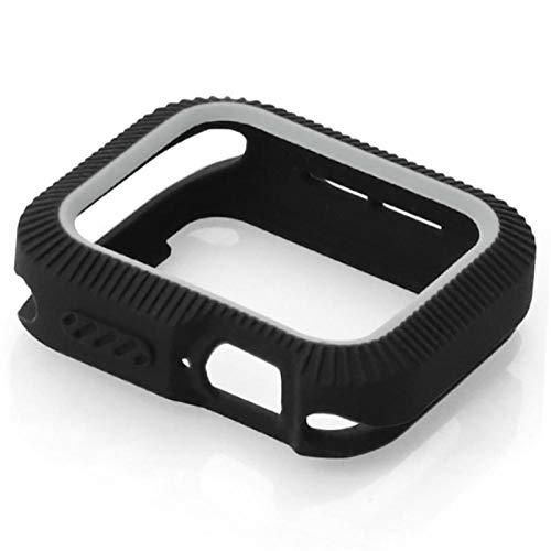 LLMXFC Candy TPU Case para Apple Watch Series 5 4 Potector de Cubierta Colorido para iWatch 40 44mm Fit Banda de Marco Ultrafino (Color : Fluorescent Orange, Dial Diameter : 40MM Series 4 5)