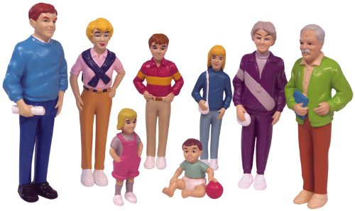 Miniland 27395 - Europäische Familie 8 Figuren 12,5 cm / 4,5 cm