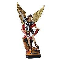 Zenghh ローマの彫刻カトリックキリスト伝道的な神聖なオブジェクト像殺害悪魔のモンスターエンジェルフィギュレインラインの英雄の戦士女神モデル人形装飾のためのリビングルームの戸口教会