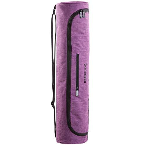 KeenFlex Borsa Porta Tappetino per Yoga, in Materiale Impermeabile, Comoda, Leggera (Viola)
