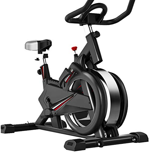 WSJIANP Spinning Bike,Ultra Silent Fitness Bike,Indoor Exercise Bike,Sports Fitness Equipment,Aerobic Exercise Dynamic Bicycle Black 108x54x118cm(43x21x46inch)
