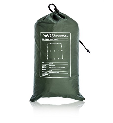 DD Hammocks タープ 4X4 正方形 (Olive green) [並行輸入品]