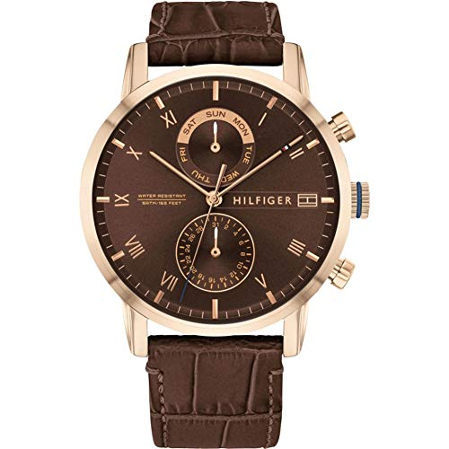 Tommy Hilfiger Men's Analogue Quartz Watch with Leather Strap 1710400