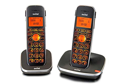 Due Telefoni Cordless Kit DUO Twin Amplificati per...