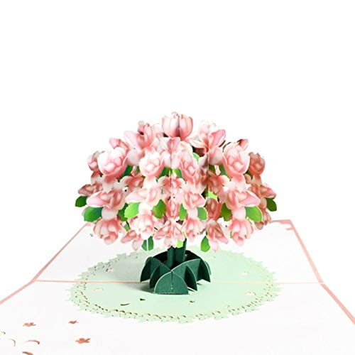 Junior one grocery 3D Pop-Up Flower Floral Greeting Card for Birthday Mothers Father's Day Wedding-1