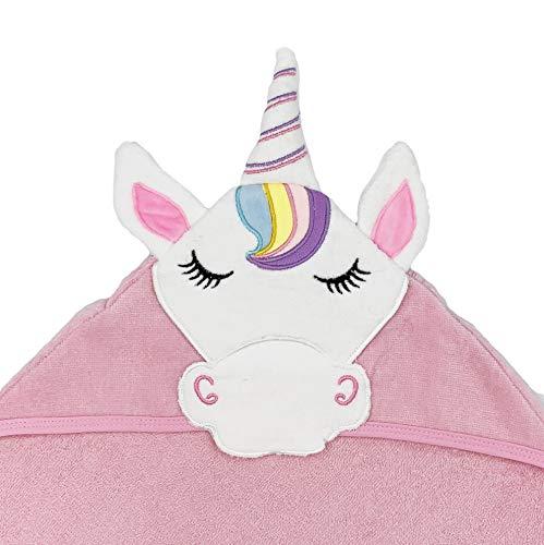 Toalla para Bebe de Baño para Niña para Niño para recien nacido con capucha Unicornio (Nuevo diseño)