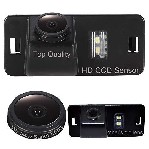 Auto Rückfahrkamera in Kennzeichenleuchte Weitwinkel mit Radar Sensor Einparkhilfe 18mm Objektiv für GPS Autoradio Für BMW 1 Series E82/3 Series E90/E90N/E91/E92/E93/M3/CSL/5 Series E39