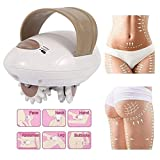 Cellulite Massager 3D Roller Body Massaging Shaper Electric Fat Removal Machine Handheld Anti-Cellulite Slimming and Skin Tightening White