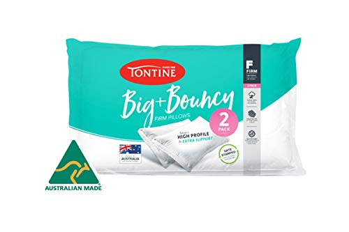 Tontine Big and Bouncy High Pillow - 2pk (Firm), White (T2916)