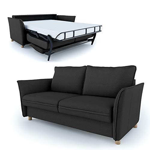 place to be Schlafsofa Insideout 160 als Tagesbett mit 160 x 200 cm Liegefläche Schwarz Eiche massiv